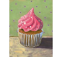 Russian Pink Cupcake Photographic Print