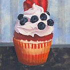 Mad Blueberries Cupcake by sivieriart