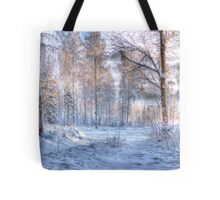 Winter in Forsheda's track I Tote Bag