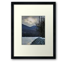 God Looked Down Upon The Frozen Earth Framed Print
