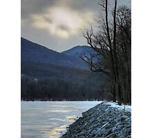 God Looked Down Upon The Frozen Earth Photographic Print