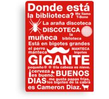 Spanish Rap  Canvas Print