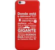 Spanish Rap  iPhone Case/Skin