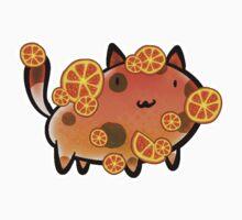 Orange Fruit Cat Kids Clothes