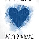 My Hearts are Bigger on the Inside Blue by NerdCat