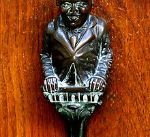Louis Armstrong Look-alike Door Knocker - Venice by Marilyn Harris