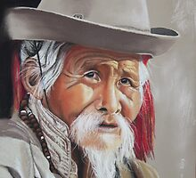 The Nepalese elder by Colombe  Cambourne