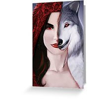 Ruby the wolf. Greeting Card