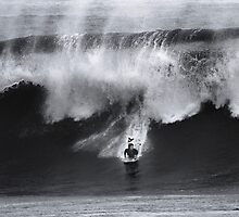 Bodyboarder At Banzai Pipeline 2012 by Alex Preiss