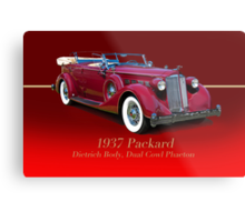 1937 Packard Dual Cowl Phaeton w/ID Metal Print