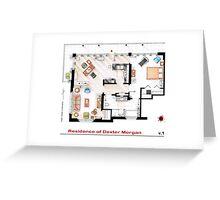 Floorplan of the apartment of Dexter Morgan v.1 Greeting Card