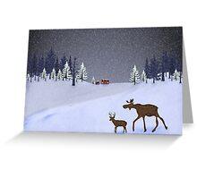 Snow beauty Greeting Card