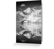 Snowdon, Winter. Greeting Card