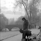 Skating on the Cambridge Backs, 1962 by NevilleNewman