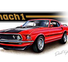 1969 Mustang Mach 1 in Red by davidkyte