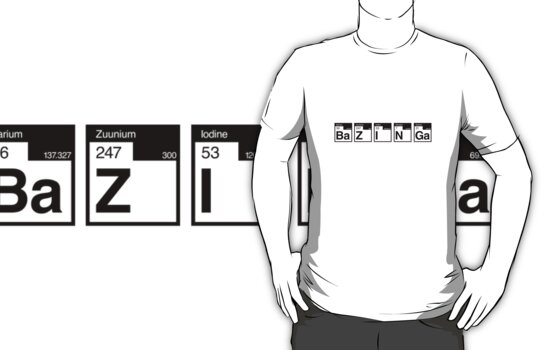 The Big Bang Theory Bazinga 2 (in black) by electricFIELD