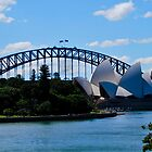 Sydney Harbor Bridge and Opera House by DAJPowell