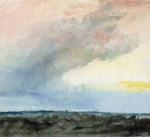 A Rainstorm at Sea by Bridgeman Art Library