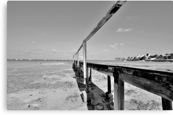 The Old Pier at Montagu Beach in Nassau, The Bahamas by 242Digital