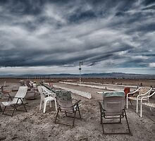 Salton Sea Series: Lounging at the shuffleboard site by toby snelgrove  IPA