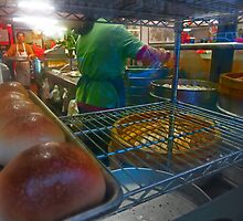 Pork Buns in China Town by David Denny
