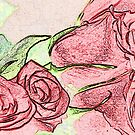 Roses Valentines Card sketch effect by ChrisNeal