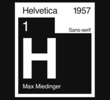 Helvetica Periodic Logo 2 (in white) by electricFIELD
