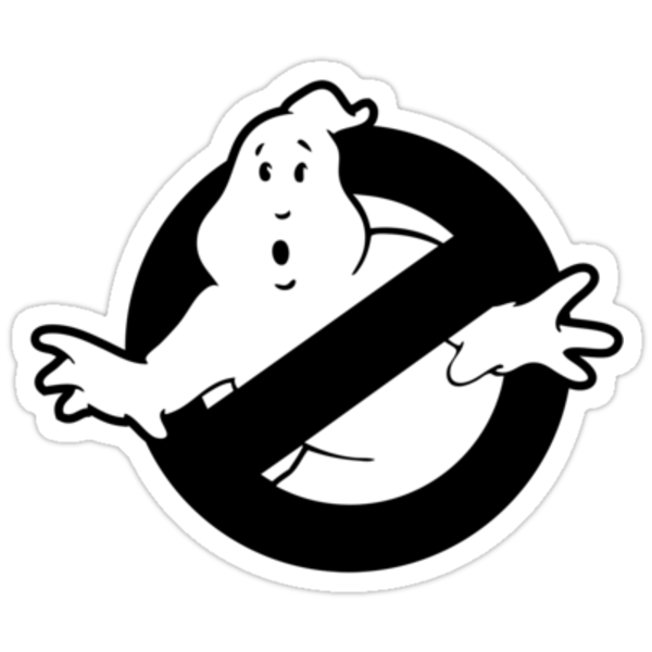 Original Ghostbusters Logo (in black and white) by electricFIELD