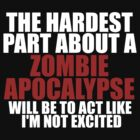 Zombie apocalypse excitement dark by sweetsisters