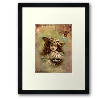 Girl with blue eggs Framed Print