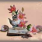 Still life with lilies  by Irene  Burdell