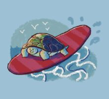 Surfing Turtle Kids Clothes