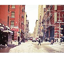 Winter in New York City - Soho in the Snow Photographic Print