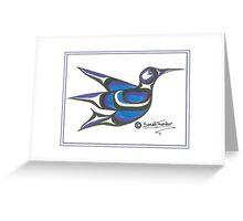 blue humming bird Greeting Card