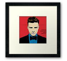 Red Justin Framed Print
