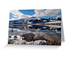 Slide Mountain Reflection Greeting Card