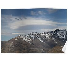 Lenticular Clouds overlooking The Remarkables Poster