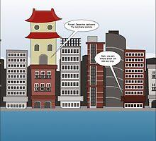 Japanime building talk editorial cartoon by Binary-Options