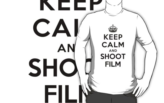 Keep Calm and Shoot Film (white) by Yiannis  Telemachou