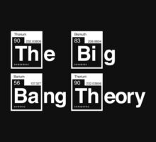 The Big Bang Theory Periodic Logo 2 (in white) by electricFIELD