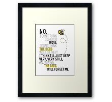 Lots and Lots of Bees! Framed Print