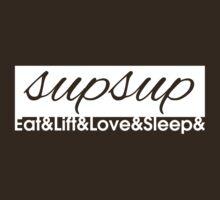 Eat Lift Love Sleep - Variation 3 by Levantar
