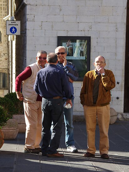 Street Politics - Assisi by Francis Drake