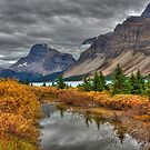 Crowfoot Glacier and Bow Lake by JamesA1