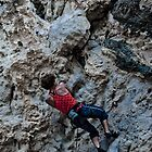 rock climber cover for iphone by Patrizio Martorana