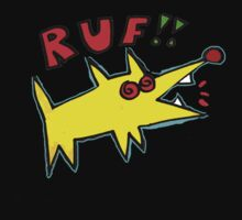 Poinky Ruf!! (Dawg for dark colored T-shirt) by Ollie Brock