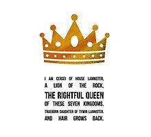Queen Cersei by sophiestormborn