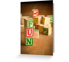 FUN - Alphabet Blocks Greeting Card