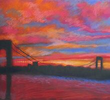 George Washington Bridge at Sunset by InWoodLen