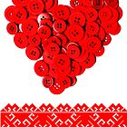 Ukraine Ukrainian Valentine  card  by blueyell